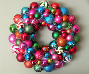 baubles, rainbow, and christmas image