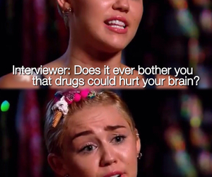 brain, drugs, and miley cyrus image