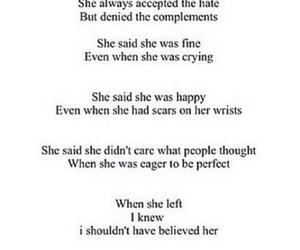 cuts, depressed, and depressing image