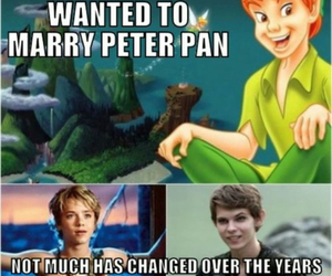 peter pan, love, and marry image