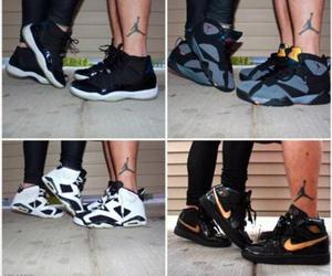 black, trainers, and jordans image