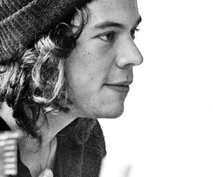 Harry Styles, black and white, and harry image