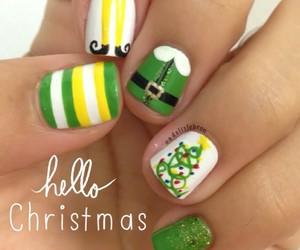 christmas, nails, and elf image