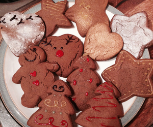 christmas, cookie, and happy image