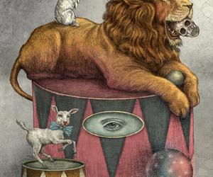 lion, rabbit, and mudarte image