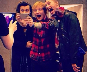 Harry Styles, ed sheeran, and Chris Martin image