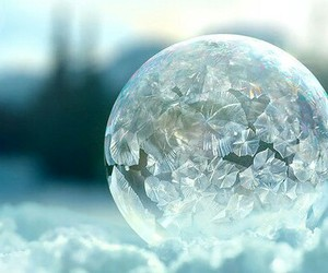 snow, winter, and bubble image