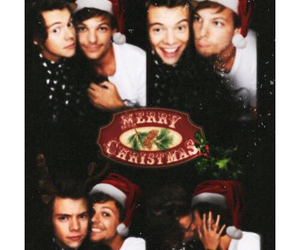 larry, christmas, and louis tomlinson image