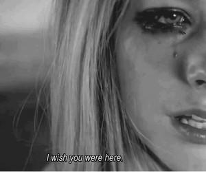 Avril Lavigne, sad, and cry image