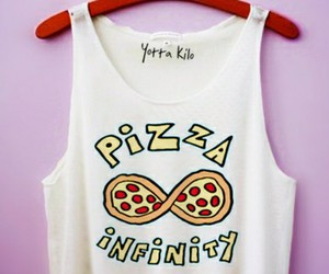 infinity, pizza, and clothing image