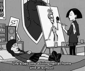 home, living hell, and school image