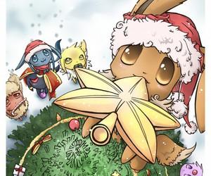 christmas, pokemon, and eevee image