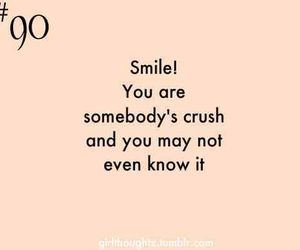 crush, smile, and quote image