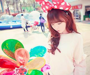 bow, headband, and cute korean girls image