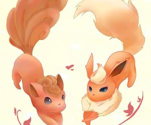 pokemon, vulpix, and flareon image