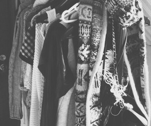 blackandwhite, clothes, and cold image