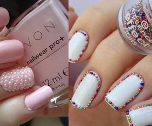 chicas, uñas, and colores image