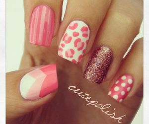 chicas, cute nails, and colores image