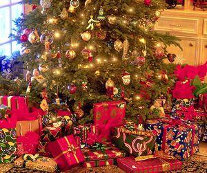 christmas, lights, and presents image
