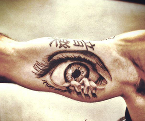 arms, Tattoos, and eyes image