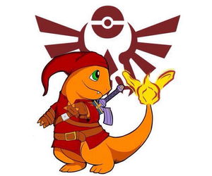 pokemon, charmander, and zelda image