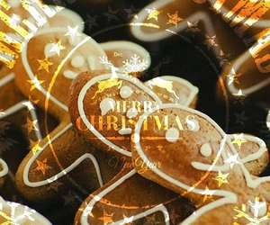 christmas and gingerbread cookies image