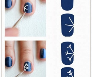 nails, diy, and blue image