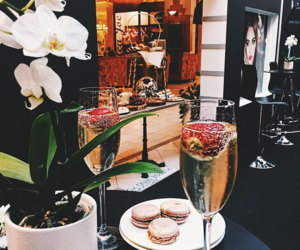 champagne, food, and drink image