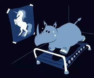 unicorn, Dream, and funny image