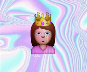 crown, girl, and pastel image