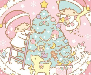 wallpaper, xmas, and little twin stars image