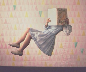 book, girl, and Dream image