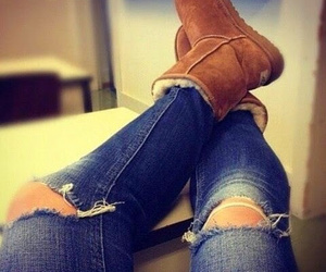 fashion, ugg, and jeans image