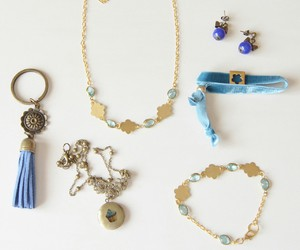 accessories, azul, and blue image