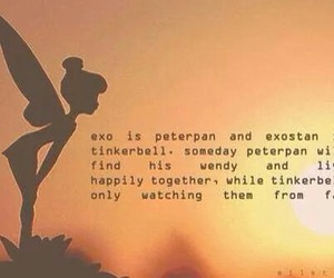 peter pan, exo, and tinkerbell image