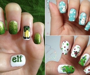 elf, nails, and christmas image