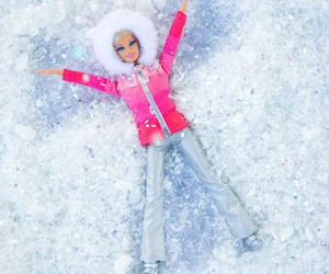 barbie, snow, and winter image