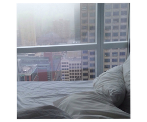 bed, sunrise, and manhattan image