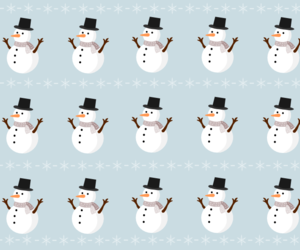 background, blue, and snowman image