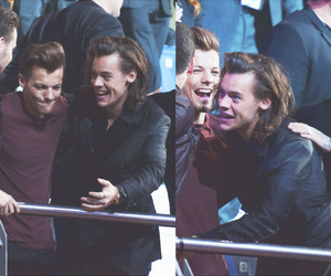 larry, one direction, and Harry Styles image
