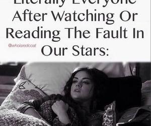 the fault in our stars, sad, and book image