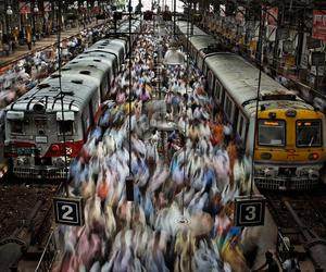people, train, and photography image