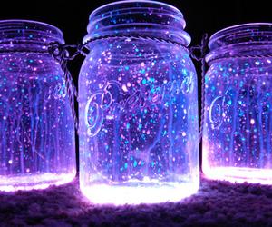 purple, light, and jar image