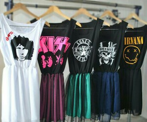 dress, nirvana, and kiss image