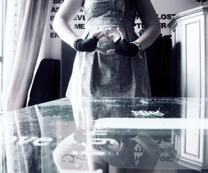 dress, love, and gloves image