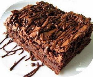 chocolate, brownie, and brownies image