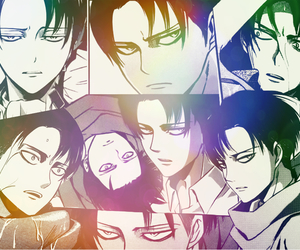 anime, Collage, and levi image