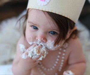 baby, cute, and cake image