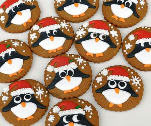 penguin, christmas, and Cookies image