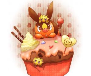 cupcake, tepig, and pokemon image